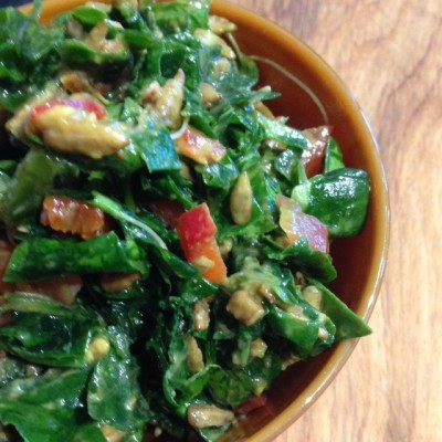Wilted Kale Salad with Smoky Creamy Dressing